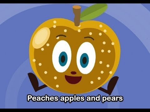 Muffin Songs - Peaches, Apples and Pears   | nursery rhymes & children songs with lyrics | muffin songs