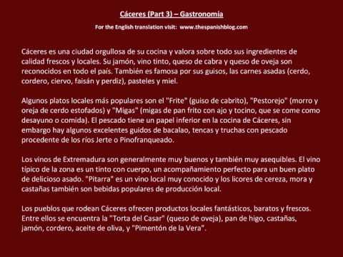 Spanish English Parallel Texts Cáceres (Part 3) Gastronomía