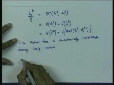 Lecture - 11 Virtual Time In Scheduling