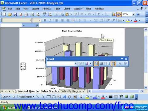 Excel 2003 Tutorial Adding Free Standing Text Microsoft Training Lesson 22.6