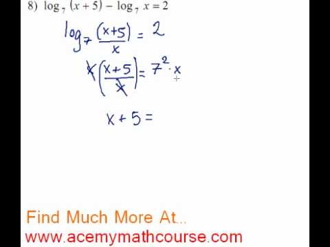 Logarithms - Log Equation #8
