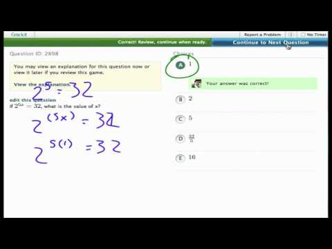 Grockit SAT Math - Multiple Choice: Question 2898