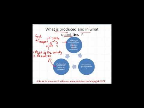 1329. Basic Problems in Economy -  What is produced & what quantities