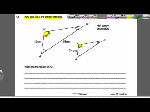Similar shapes 2 (GCSE Higher Maths)- Exam Qs 24