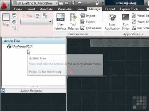 AutoCAD The Amazing Action Recorder - by InfiniteSkills