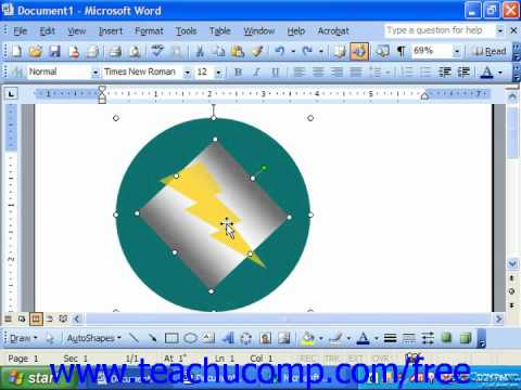 Word 2003 Tutorial Using the Draw Button Microsoft Office Training Lesson 14.11