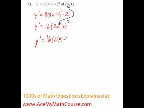 Derivative - Tangent Line Question #7