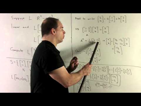 Evaluating Linear Transformations Using a Basis