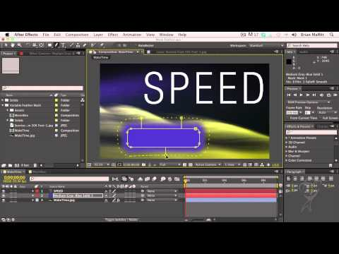 After Effects CS6 Essentials Variable Mask Feathering, Part 2