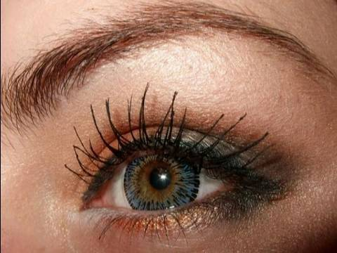 Make up for blue green eyes tutorial