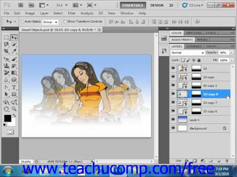 Photoshop CS5 Tutorial Smart Filters Adobe Training Lesson 10.9