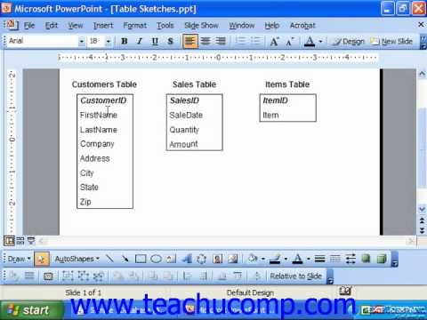 Access 2003 Tutorial The Relational Model of Data Storage Microsoft Training Lesson 2.4