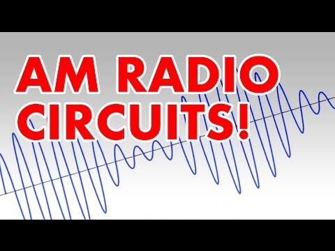 Amplitude Modulation tutorial & AM radio transmitter circuit