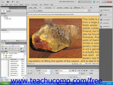 Dreamweaver CS5 Tutorial The Dreamweaver Environment Adobe Training Lesson 1.1