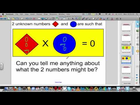 Solving quadratics by factorising (Part 1of 2)