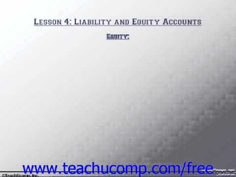 Accounting Tutorial Equity Training Lesson 4.8