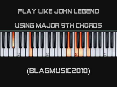 Play like John Legend - Using Major 9th Chords and Rootless Voicings