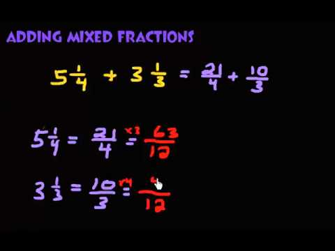 Adding Mixed Fractions Ex. 1