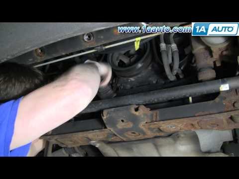 How To Install Replace AC Belt Tensioner Silverado Sierra Tahoe Suburban 4.8L 5.3L 6.0L 1AAuto.com