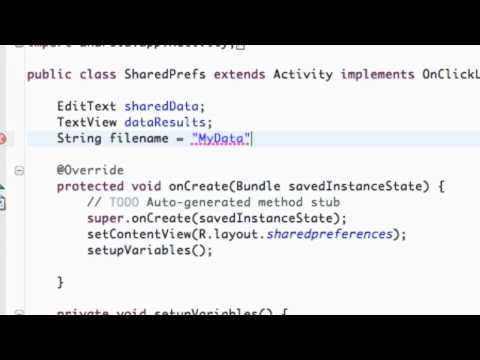 Android Application Development Tutorial - 95 - Saving Data with SharedPreferences