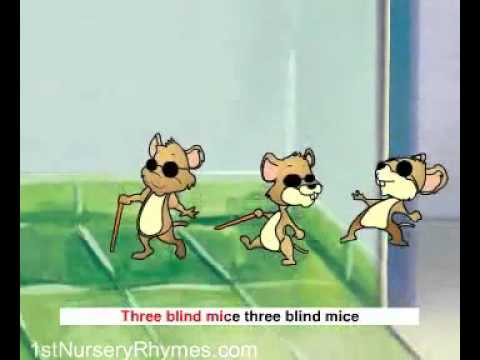 English Poems kids rhymes Three Blind Mice.Mp4