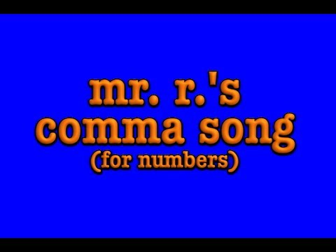 comma song- how to place commas in numbers!!!