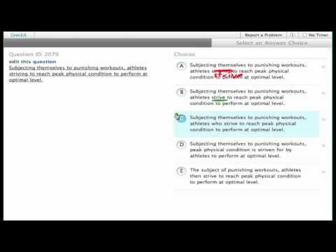 Grockit SAT Writing - Improving Sentences: Question 2079