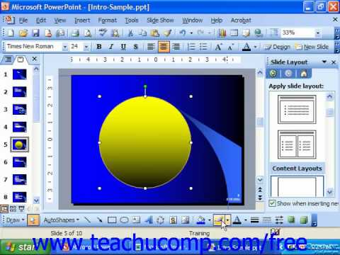 PowerPoint 2003 Tutorial Applying & Changing Line Colors Microsoft Training Lesson 19.7
