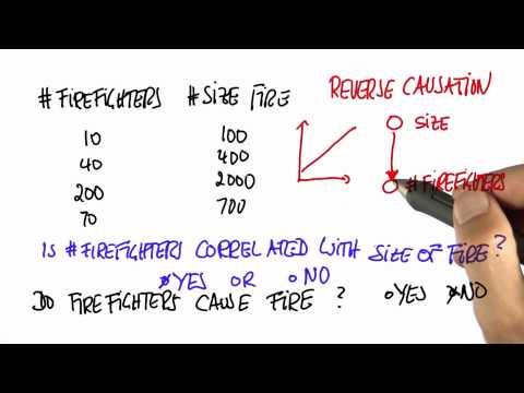 Fire Causation Solution - Intro to Statistics - Correlation vs Causation - Udacity