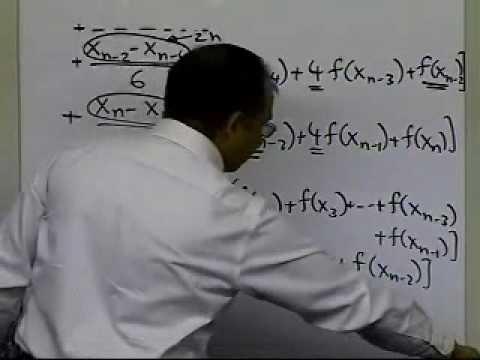 Multiple Segment Simpson's 1/3 Rule Derivation: Part 2 of 2