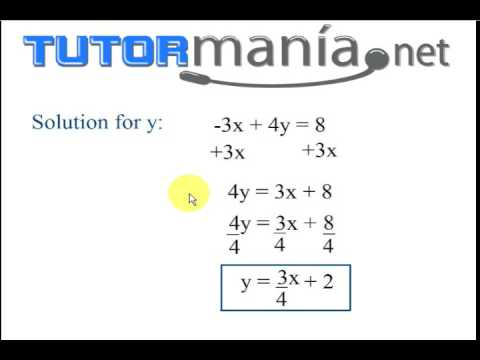 Math Lesson:  Writing a linear equation into y=mx + b