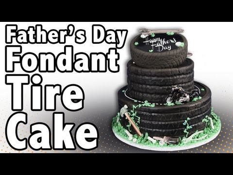 How to make a Fondant Tire Cake | Cake Tutorials