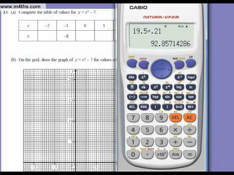 Full Unit 3 Edexcel 5384 GCSE higher 2010 November  calculator Paper (quick answers)