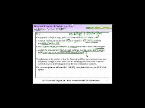 1250. CA Final Income Tax   Return of Income of Certain specified institutions   1394d