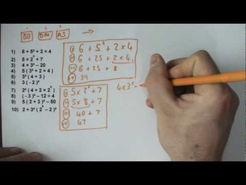 Order of Operations (BODMAS, BIDMAS, PEDMAS, PEMDAS) GCSE and key stage 3 maths.MP4