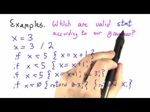 Valid Statements - CS262 Unit 3 - Udacity