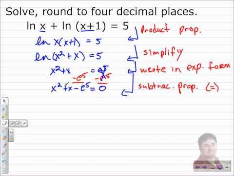 How to Solve Logarithmic Equations   Algebra 2 Math Video