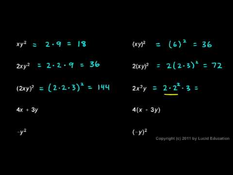 Prealgebra 2.07c - Order of Operations