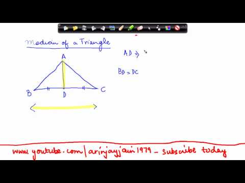 138-Mathematics Class VI - Properties of Triangles  - Median