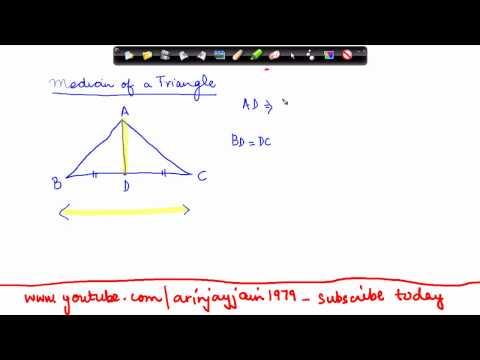 138-Mathematics Class VI - Properties of Triangles  - Median