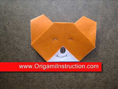 How to Fold Origami Koala Face - OrigamiInstruction.com