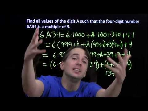 Art of Problem Solving Prealgebra: Divisibility Rules for 3 and 9