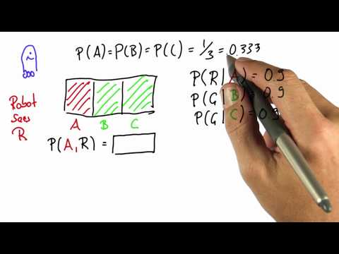 Robot Sensing 4 Solution - Intro to Statistics - Bayes Rule - Udacity