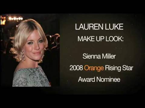 Sienna Miller makeup look Orange Baftas rising stars