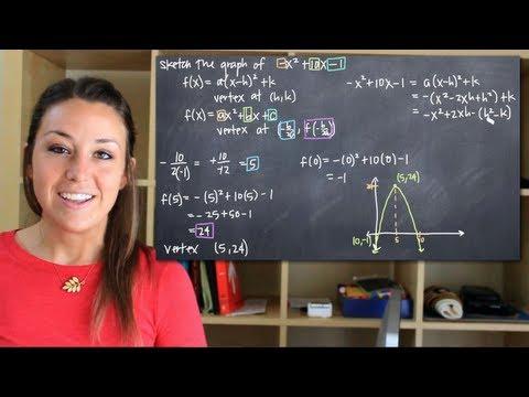 Sketch the graph of a parabola