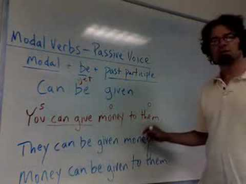 Modal Verbs in the Passive Voice