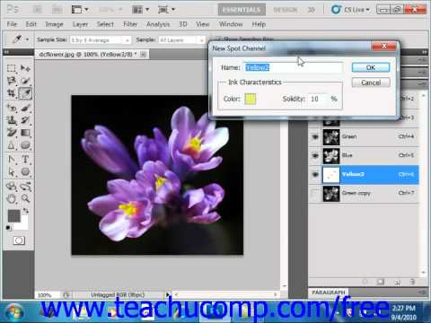 Photoshop CS5 Tutorial Spot Colors Adobe Training Lesson 13.3