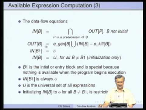 Mod-08 Lec-13 Data-flow Analysis-Part 2