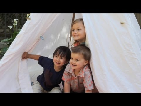The Backyard Teepee || KIN PARENTS