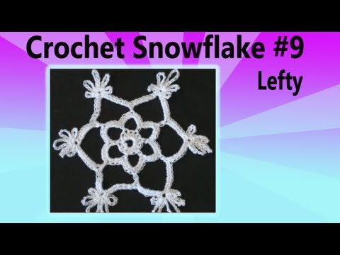 Crochet Snowflake #9 - Left Hand Version